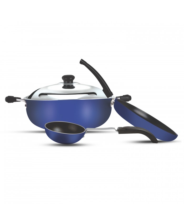 3Pcs Non Stick Cookware Gift Set