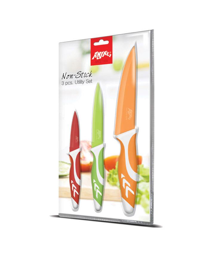 3 pcs nonstick knives